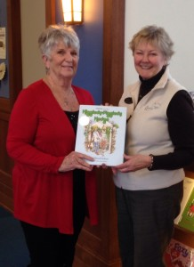 hattie and the hiddledy piggledy hedge at Charlevoix Public Library