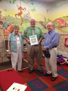 Georgia Author of the Year Finalist for Children's Books Carol Dolson finds her book Hattie and the Higgledy Piggledy Hedge in Wisconsin