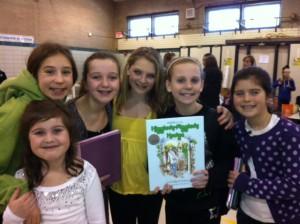 Hattie with friends at Roosevelt Elementary School in Park Ridge, Illinois