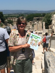 Hattie and the Higgledy Piggledy Hedge in Ephesus Turkey